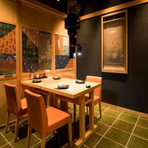 をどり 虎ノ門 霞ヶ関 飯野ビル店 店内 テーブル席個室