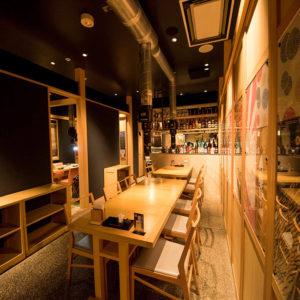 をどり 虎ノ門 霞ヶ関 飯野ビル店 店内 テーブル席・半個室